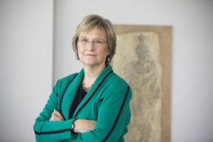 Harvard President Drew Faust is pictured in the Harvard Art Museums at Harvard University. Stephanie Mitchell/Harvard Staff Photographer